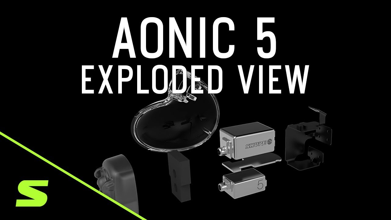 Shure AONIC 5 Sound Isolating Earphones - Exploded View Detail