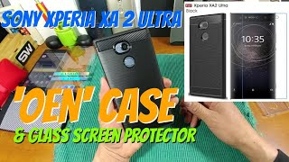 Sony Xperia XA 2 Ultra 'OEN' Case & Glass Screen Protector.. +Install