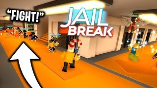 Roblox Jailbreak New Prison Island I Caused A Massive Prison Fight In Roblox Jailbreak