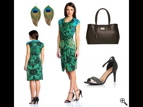 Desigual Kleider SALE mit Blau Grünen Outfit