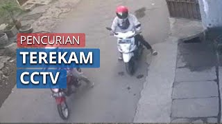 Aksi Pencurian Motor di Surabaya Terekam CCTV, Dilakukan saat Sang Pemilik Baru Pulang Salat Id