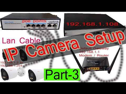 How to setup an IP Security Camera System with nvr Part 3 Learn ...