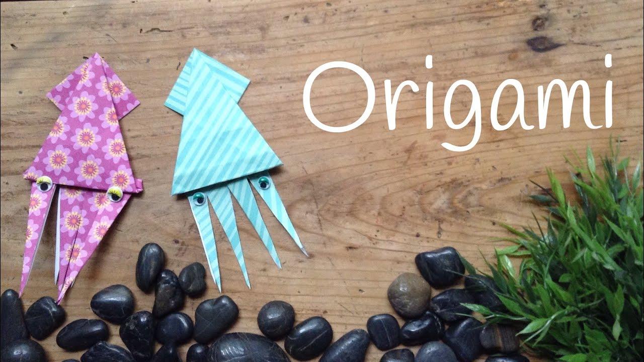 Calamar de papel paso a paso | Origami fácil para niños