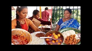 People Enjoying Roadside Unlimited Meals | Veg Meals / Chicken Meals | Indian Street food