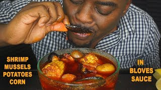 BEAST MODE DESTROYS SEAFOOD BOIL IN BOWL | AMAZING REACTION
