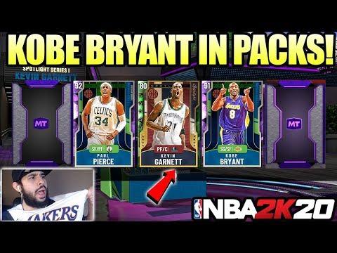 NEW SPOTLIGHT SERIES PACKS WITH AMETHYST KOBE BRYANT ARE JUICED IN NBA 2K20 MYTEAM PACK OPENING