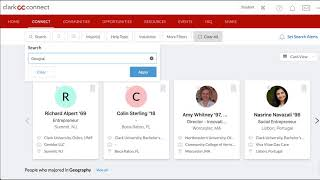 How to Find and Connect With Alumni on ClarkCONNECT