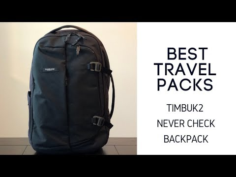 Best Work Travel Packs: Timbuk2 Never Check Expandable Backpack Review