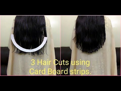 How to cut U / V / Straight Shape Haircut easily at home | How to do Haircut using simple method