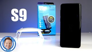 Galaxy S9 Whitestone Dome Glass First Time Install, Review & Case Test