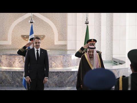 Συνάντηση Κυρ. Μητσοτάκη με τον βασιλιά της Σ. Αραβίας