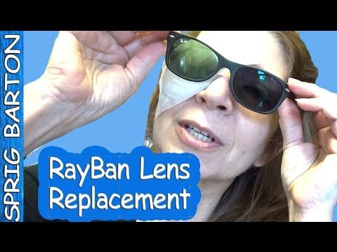 HOW TO CHANGE THE LENS IN RAYBAN WAYFARER SUNGLASSES RIGHT