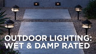 Outdoor Lighting Size Guide Security Wet Vs Damp Location