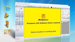 Richpeace CAD Software Online Lessons-Tip of the day-Delete all pattern in working area (V9)