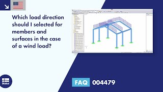 FAQ 004479 | Which load direction should I selected for members and surfaces in the case of a wind load?