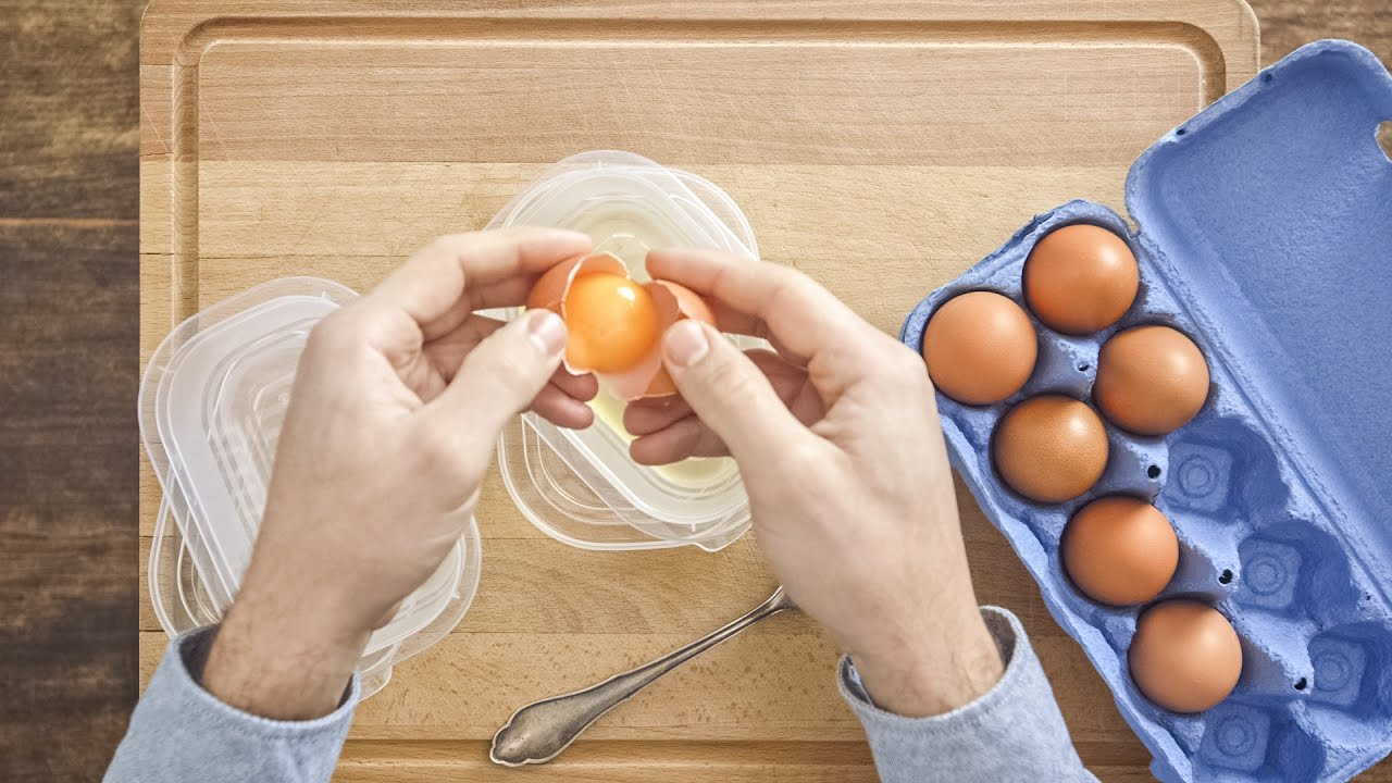 Separating an egg