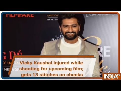 Vicky kaushal injured while shooting for horror film  gets 13 stitches on cheeks