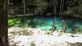 preview picture of video 'Swimming in Cenotes. Yucatan, MX- The Traveling Nomad'