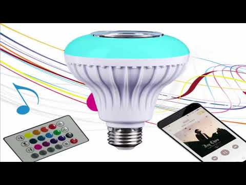 RAYWAY LED Bluetooth speaker bulb incredible for spaces like bathrooms ideal for garages or basement