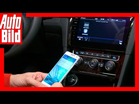 Connected Car: VW Golf 7 Facelift - Das Discover Pro mit Smartphone (2016)