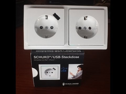 USB Steckdose  - Zwei in einem von Busch Jaeger