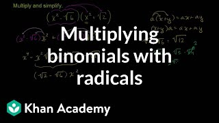 Multiplying Binomials with Radicals