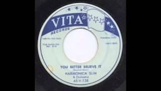 HARMONICA SLIM - YOU BETTER BELIEVE IT - VITA