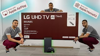 "Massive LG 86"" UHD TV Unboxing + Airplay Setup + HomeKit Setup + Xbox Series X Gameplay 4k 120 Hz"