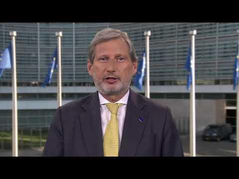 Video poruka evropskog komesara Johanesa Hana povodom Izvještaja o Crnoj Gori 2018