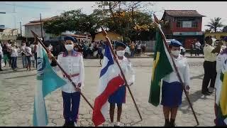 7 de setembro: Hasteamento da bandeira em Prado