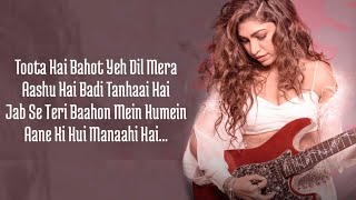 Tanhaai (Lyrics) Tulsi Kumar   Sachet-parampara - YouTube