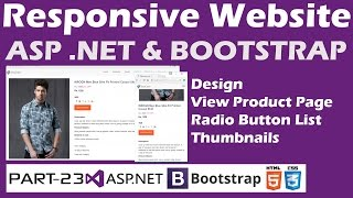 Responsive Website-ASP.NET&Bootstrap-Part 23-Online Shopping Site - Designing Product View Page