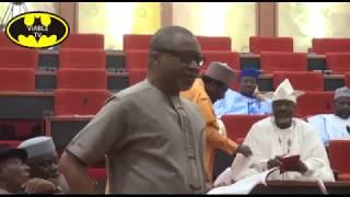 Rowdy Session In Senate, As Aberibe Calls Buhari Incompetent