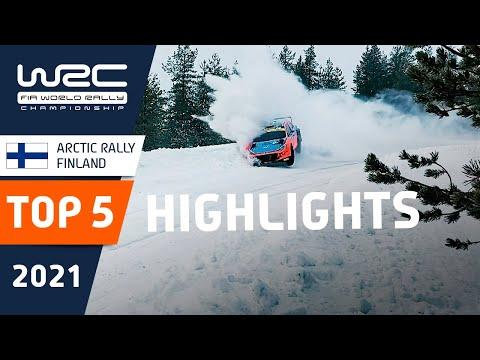 WRC 2021 第2戦のラリーフィンランドの中からトップ5の名シーンを集めたハイライト動画