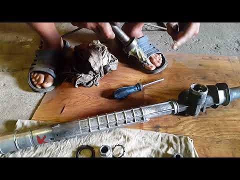ТО рулевой рейки опель кадет, снятие, промывка и установка