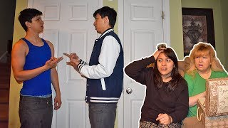 I Have A Twin Brother Prank On Mom And Girlfriend!!