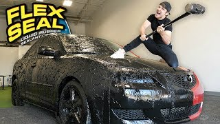 I Covered My Entire Car With Flex Seal Liquid!!