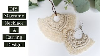 DIY Macrame Necklace And Earring Design - Macrame Jewelry  Tutorial!