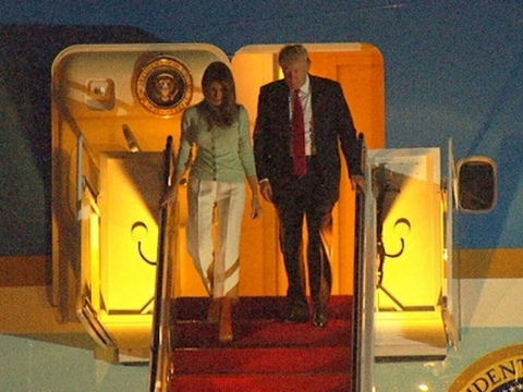 Trump Back in Washington After 9-Day Trip