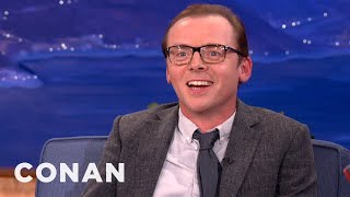 Simon Pegg Loves To Torture His Twitter Followers - CONAN on TBS