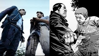 Negan Kills Spencer Death Comparison - The Walking Dead TV Show VS Comic (Season 7 Episode 8)