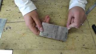 How to Make a 90 Degree Bend in a Piece of Sheet Metal Aluminum