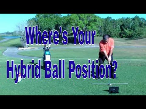 Golf Video Tips, Hybrid Ball Position Basics