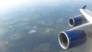 Delta 747-400 Takeoff Detroit Metropolitan Airport