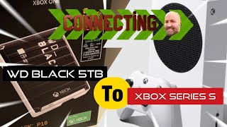 WD Black external drive 5tb to Xbox series S connection TEST