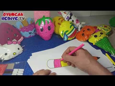 Senin Oyuncağın Kağıt Squishy Yapımı - Kalem Sukuşi Nasıl Yapılır - Dıy Back to School Supplies