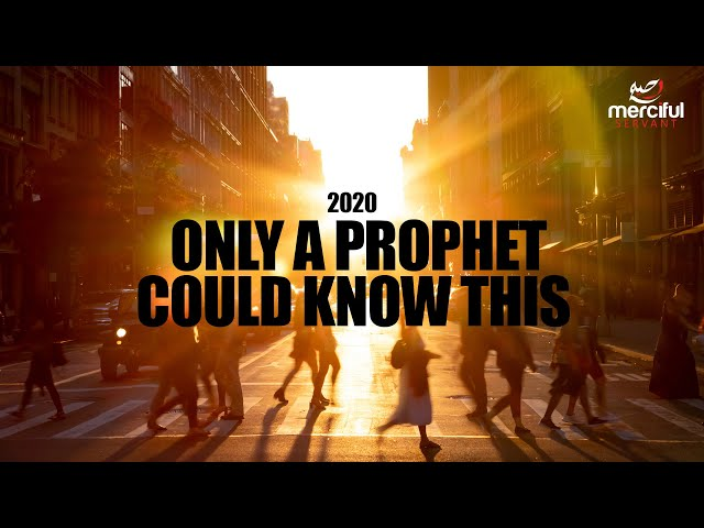 2020 only a prophet could have known this!