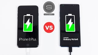 Apple iPhone 8 Plus vs Samsung Galaxy Note8 - Battery FAST Charging SPEED Test