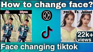Face changing viral tiktok video edit