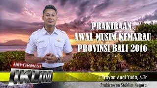 Prakiraan Awal Musim Kemarau Prov Bali 2016